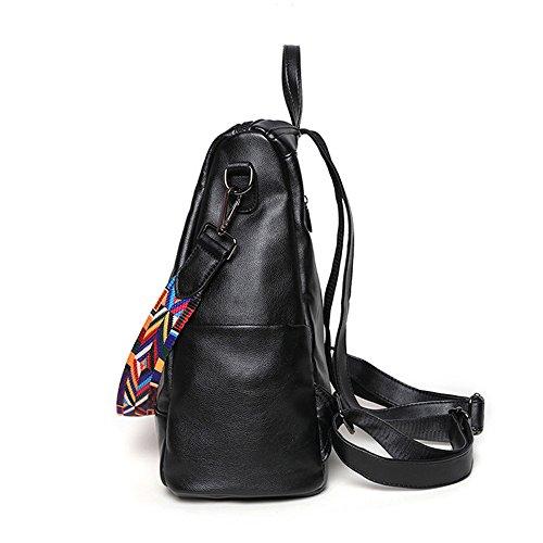 en dos Moyen quotidien chaud cuir femmes sac à ville en les à B noir sac à sac dos occasionnel dos sac véritable pour à dos Grand sac Vintage cuir wFqrFI