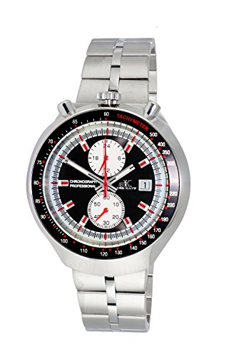 Adee Kaye Men's Quartz Stainless Steel Casual Watch, Color Silver-Toned (Model: ()