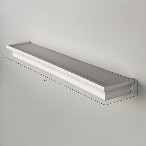 Three Posts Classic Horizontal Wall Décor Reviews: Ballucci Classic Floating Wall Shelf Ledge, 24 Inch, White