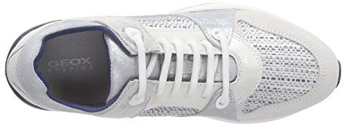Geox Omaya A, Baskets Basses Femme Multicolore (Off White/Lt Greyc0856)