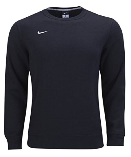 Nike Team Club Fleece Crew Sweatshirt (Black, X-Large)