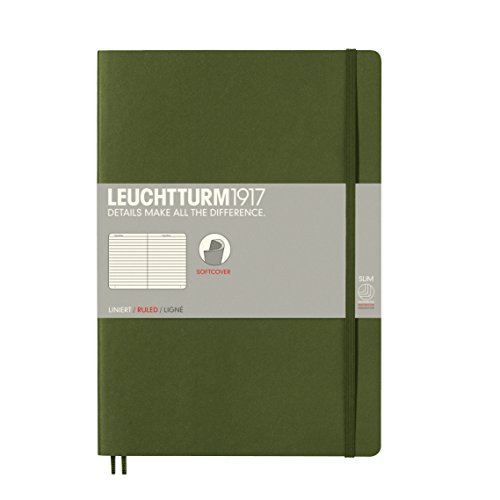Leuchtturm1917 Composition Softcover Ruled Notebook Army