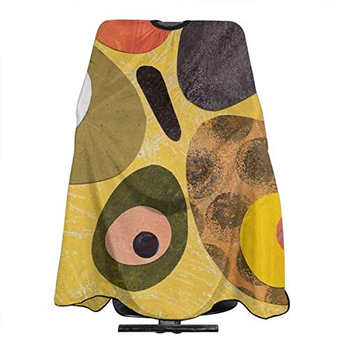 50s 60s Style Retro Colourful Design Professional Barber Cape Salon Home Barbers Hairdressing Haircut Apron Large size 66