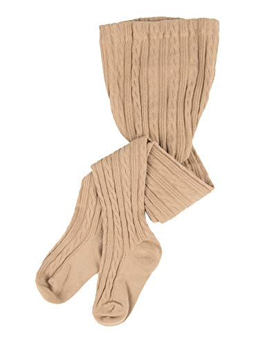 Fashion Tights Ribbed (Leveret Baby Girls Knit Cable Tights Beige Size 18-24 Months)