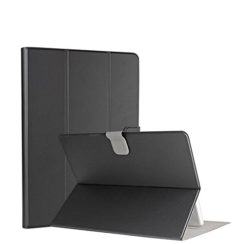 7 inch tablet case, 8 inch tablet case, Valkit universal 7' 7.9' 8' 9' 10' 10.1' inch tablet Folio Leather Stand smart Case Cover For Andriod windows tablet ASUS, Acer,RCA,Dell, HP, 8 inch Full black