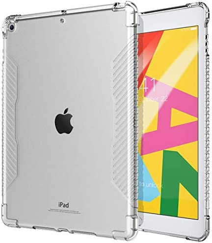 [해외]TiMOVO Case for New iPad 7th Generation 10.2 2019 Shockproof Impact Resistant Flexible Soft Transparent Clear TPU Protective ShellAir Cushion Fit iPad 10.2-inch Retina Display - Clear / TiMOVO Case for New iPad 7th Generation 10.2 ...