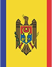 Notebook: Moldova Flag Cover | 8.5 x 11 inches | 110 Pages | College Ruled Lined Paper Composition Journal | One Subject Notebook | Rafferty Otis Designs