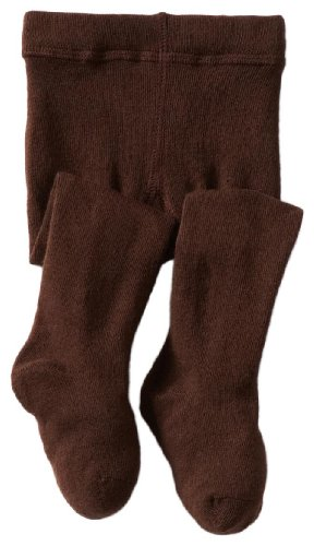 Jefferies Socks Baby Girls' Seamless Organic Cotton Tights, Chocolate, 6 18 Months