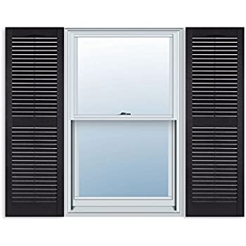 Amazon.com: LTL Home Products SHL55 Exterior Window Louvered ...