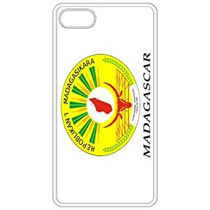 Madagascar Coat Of Arms Flag Emblem White Apple Iphone 5 Cell Phone Case - Cover