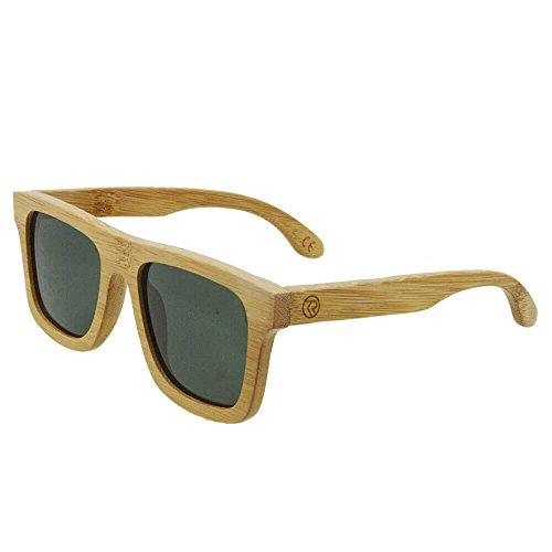 Wood Polarized Wayfarer Sunglasses TAC UV400 Protection Handmade Bamboo Unisex Retro - K Style Sunglasses