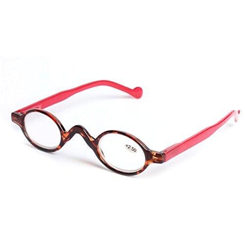 Deylaying Piccoli occhiali da lettura rotondi dell'annata Occhiali da lettura Occhiali presbyopici GZtiQv0Ews