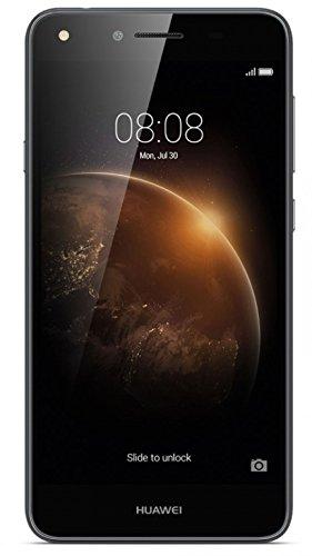 bolsa del cinturón / funda para Huawei Y6 II Compact, negro + Auriculares | caja del teléfono cubierta protectora bolso - K-S-Trade (TM)
