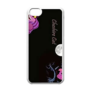 iPhone 5c Cell Phone Case White Disney Alice in Wonderland Character Cheshire Cat Phone Case Clear Plastic CZOIEQWMXN14272