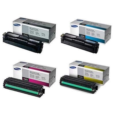 Samsung Part# CLT-K504S. CLT-C504S. CLT-M504S. CLT-Y504S Toner Cartridge Set (OEM) ()