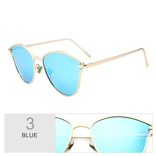 Espejo La De Uv400 Gafas De Dibujo Sol Fría Blue Gafas Gafas Línea La De Polarizadas Mariposa Lujo Mujer Azul Mujer TIANLIANG04 De Radiación Sol qTE8Xw