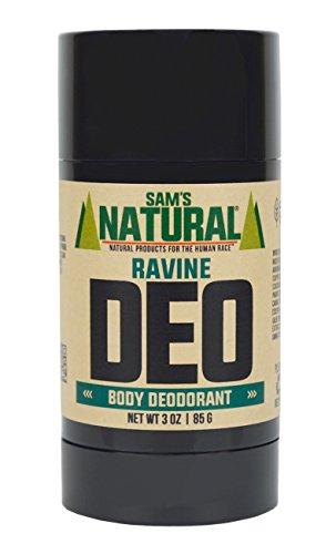 Sams Natural Deodorant Stick - Ravine, Aluminum Free, Vegan, Cruelty Free, 3 oz