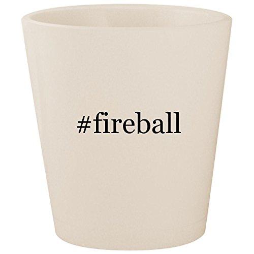 #fireball - White Hashtag Ceramic 1.5oz Shot Glass