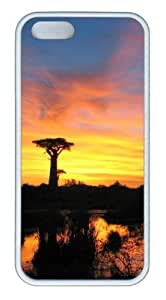 Beautiful view at dusk Custom iPhone 5s/5 Case Cover ¡§C TPU ¡§C White