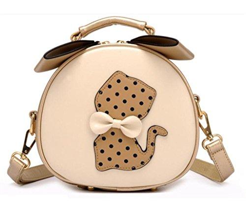 Cat Small Bag Shoulder Messenger Crossbody Women Khaki Girls for Katoony PU Bag Leather Handbag A Satchel Purse 81STa