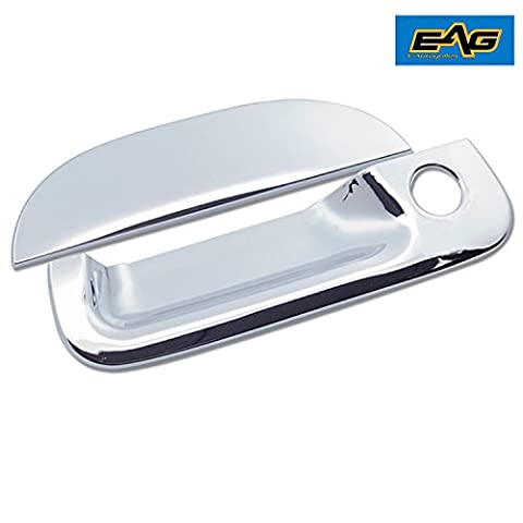 E-Autogrilles Triple Chrome Plated ABS Tailgate Handle Covers for 99-07 Ford F250/F350/F450 Super Duty/02-06 Explorer Sport Trac/97-03 F150/2004 F150 Heritage