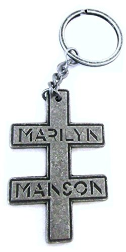 Marilyn Manson Double Cross Metal Key (Cross Metal Keychain)