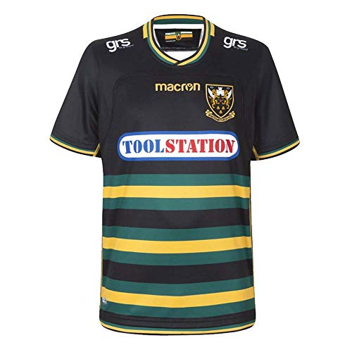 - Macron 2018-2019 Northampton Saints Home Authentic Replica Rugby Football Soccer T-Shirt Jersey