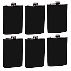 Gifts Infinity Set of 6 8oz Black Stainless Steel ...