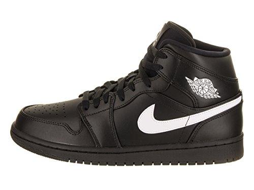Nike Air Jordan 1 Mid, Scarpe da Basket Uomo nero