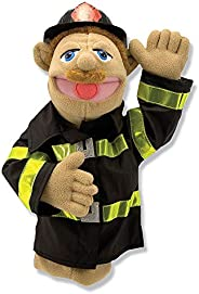 Melissa & Doug Firefighter Puppet with Detachable Wooden Rod (Puppets & Puppet Theaters, Animated Gest