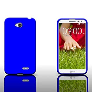 CoverON® Silicone Rubber Soft Skin Case Cover for LG Optimus Exceed 2 - Blue