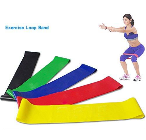 Yoga Pilates Resistance Band Loop ,Vanvler Crossfit Equipment for Fitness Exercise Workout Training (500/50/0.9㎜, random Color)