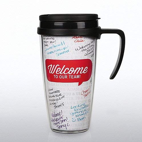 New Hire Employee Travel Mug - Personalize The Inside -