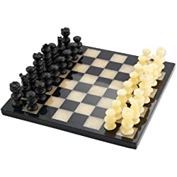 NOVICA Onyx and marble chess set, Victory