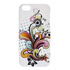 CL - Flores caja colorida suave patrón para el iphone 5/5s