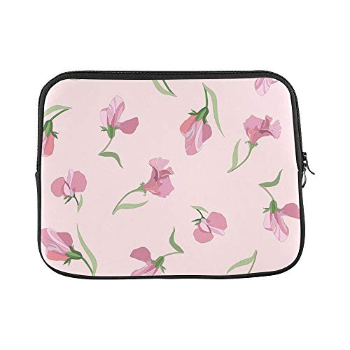 Design Custom Sweet Peas Hand Painted Flowers Sleeve Soft Laptop Case Bag Pouch Skin for MacBook Air 11