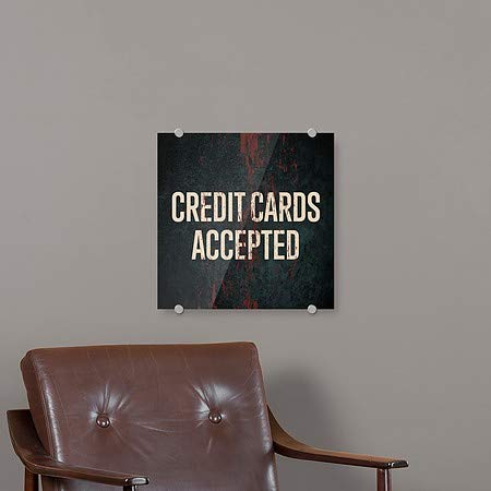 Ghost Aged Rust Premium Brushed Aluminum Sign 5-Pack Credit Cards Accepted 16x16 CGSignLab