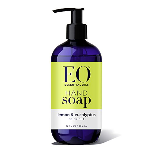 EO Botanical Liquid Hand Soap, Lemon and Eucalyptus, 12 Ounce (Pack of 3)