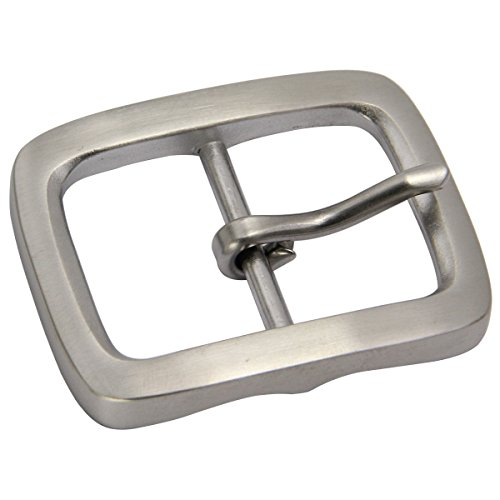 Belt Buckle New Cool - Heavy Duty Stainless Steel Belt Buckle for Men's Center bar belt buckle 1 1/2