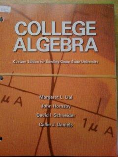 Bowling Green State University College Algebra
