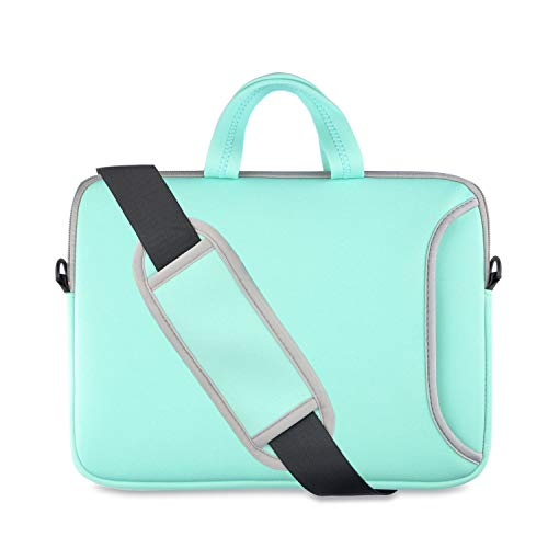 Chromebook Case 11, Kitron(TM) 11.6-12.2 Neoprene Laptop Sleeve Computer Bag with Carrying Handle Compatible for Acer/HP Stream/Samsung/MacBook Air 11/,Turquoise Mint Green