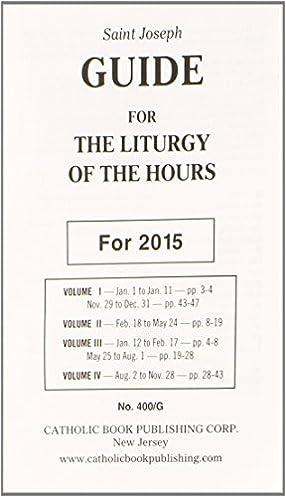 saint joseph guide for the liturgy of the hours catholic book rh amazon com Holy Hour Liturgy