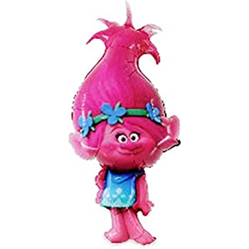 "1 x Trolls Poppy Shape 43"" x 21""/109 cm x 53 cm Foil Balloon"
