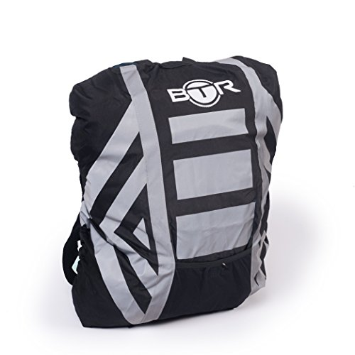 BTR Waterproof High Visibility Backpack Cover, Rucksack Cover Plus Waterproof & High Visibility Helmet Cover