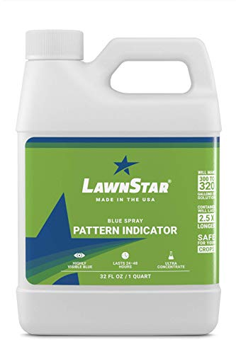 Blue Spray Pattern Indicator (Makes 320 Gallons) - Premium, Professional Ultra Concentrated Dye - Multipurpose, Highly Visible Formulation Prime For Marking Herbicides, Weed, Fertilizer, Turf (32 OZ)