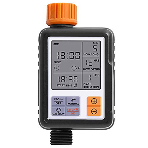 SOONHUA Programmable Hose Faucet Timer Digital Water Timer for Garden, Single Outlet,Waterproof
