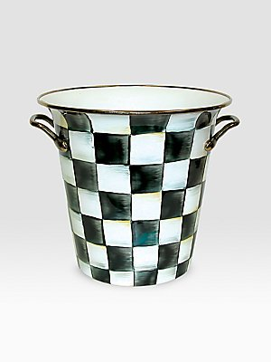 MacKenzie-Childs Courtly Check Wine Cooler - Black Check