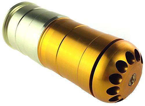 SportPro-120-Round-CNC-Aluminum-Green-Gas-BB-Shower-for-Airsoft-Gold