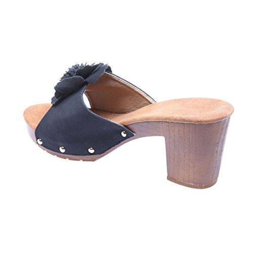 La Modeuse - Sandalias para mujer negro
