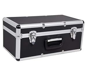 Ondis24maletín de transporte M Caja de almacenamiento, en maletín de aluminio de imitación negro 62l, con asas (bloqueable)